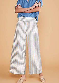Lou & Grey Striped Button High Waist Wide Leg Linen Pants