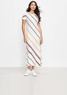 Lou & Grey Striped Softserve Slub Midi Tee Dress
