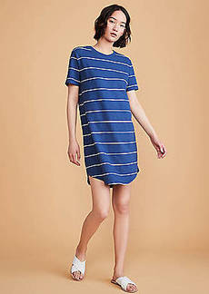 LOFT Lou & Grey Striped Cozy Jersey Tee Dress