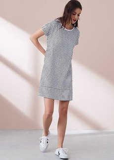 Lou & Grey Striped Garment Dye Cuffed Tee Dress