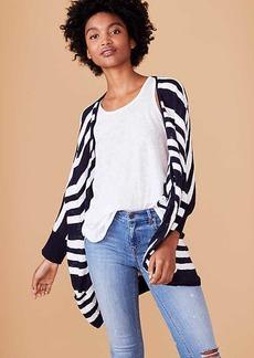 LOFT Lou & Grey Striped Open Poncho Sweater