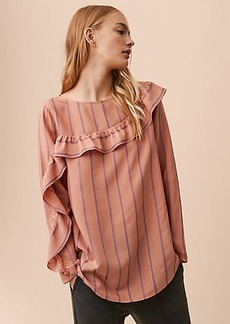 LOFT Lou & Grey Striped Ruffle Blouse