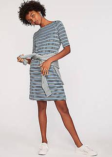 LOFT Lou & Grey Striped Signaturesoft Boatneck Dress