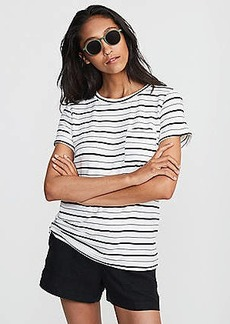 LOFT Lou & Grey Striped Signaturesoft Pocket Tee