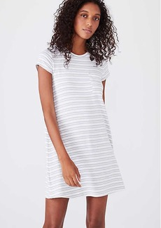 LOFT Lou & Grey Striped Signaturesoft Pocket Tee Dress