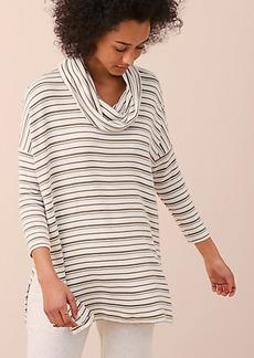 Lou & Grey Striped Signaturesoft Slit Cowl Tunic