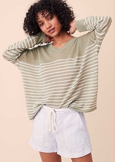 LOFT Lou & Grey Striped Slouchy Sweater