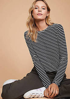 LOFT Lou & Grey Striped Softened Jersey Layering Tee