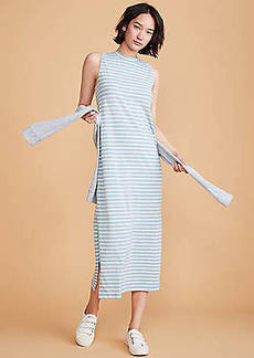 LOFT Lou & Grey Striped Softserve Slub Maxi Dress
