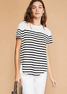 Lou & Grey Striped Softserve Slub Shirttail Tee