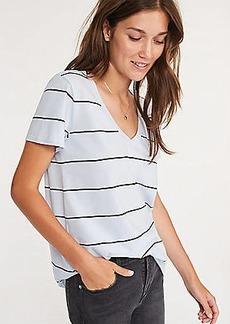 Lou & Grey Striped Softserve V-Neck Tee