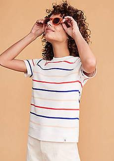 Lou & Grey Striped Terry Sweatshirt Tee