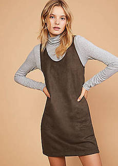 LOFT Lou & Grey Sueded Pocket Jumper Dress