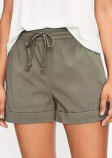Lou & Grey Supersoft Sateen Drawstring Shorts