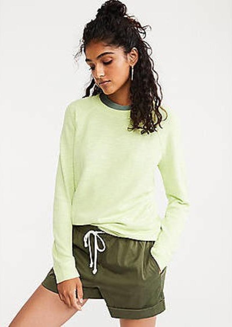 Lou & Grey Textured Crepe Sweatshirt