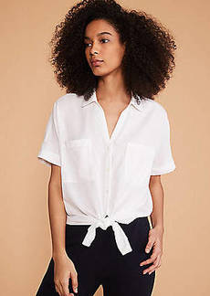Lou & Grey Tie Front Shirt