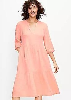 Lou & Grey Triple Cloth Midi Pocket Dress