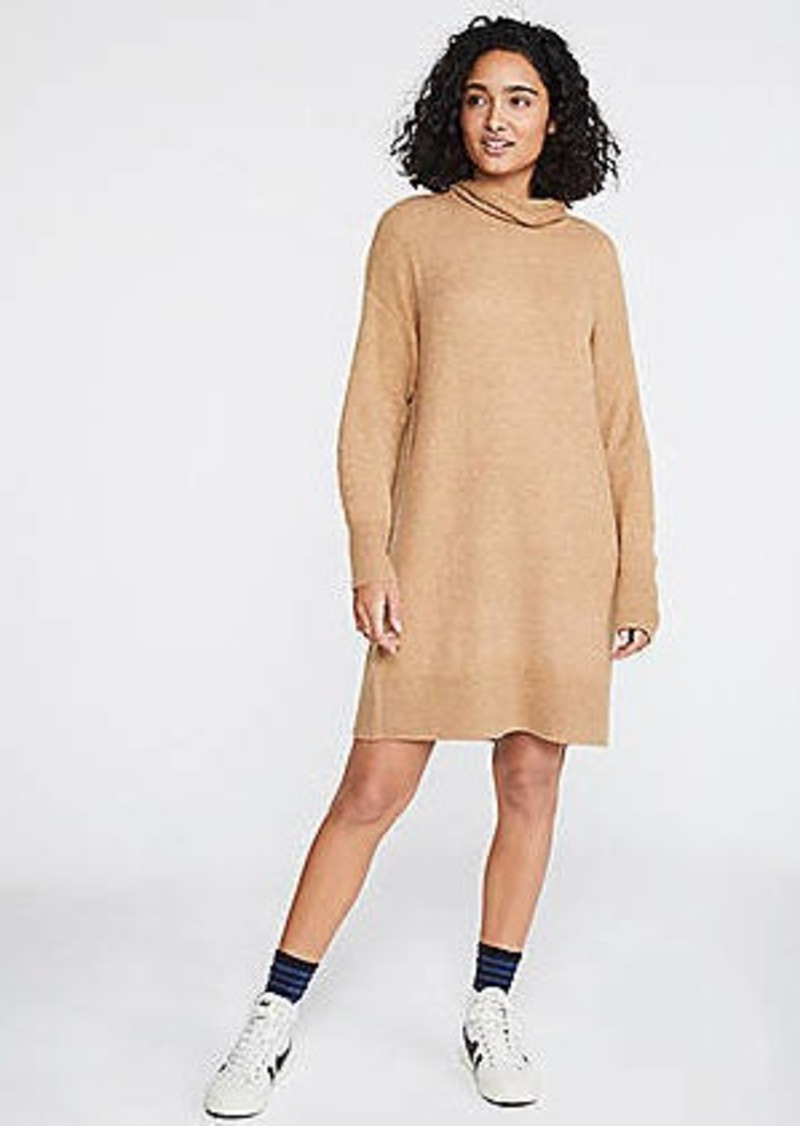 LOFT Lou & Grey Turtleneck Sweater Dress