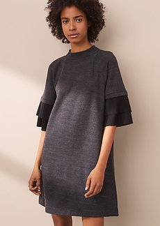 Lou & Grey Zen Bounce Micro Ruffle Dress