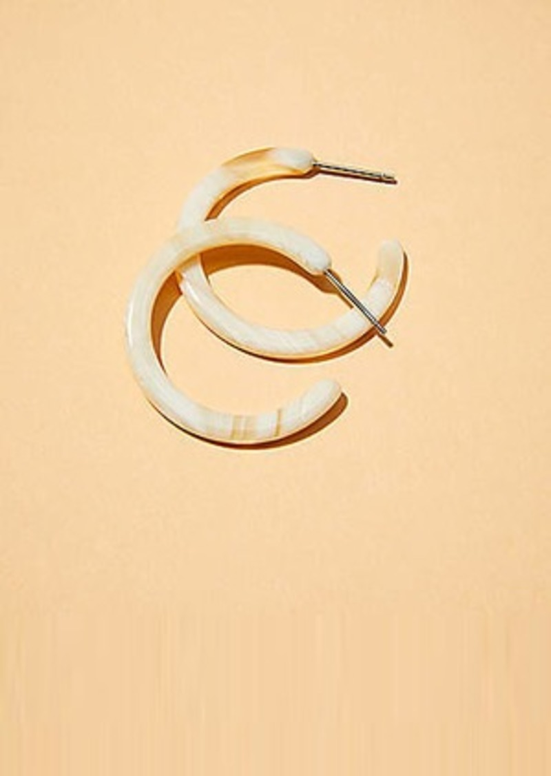 Lou & Grey Machete Mini Hoop Earrings in Alabaster