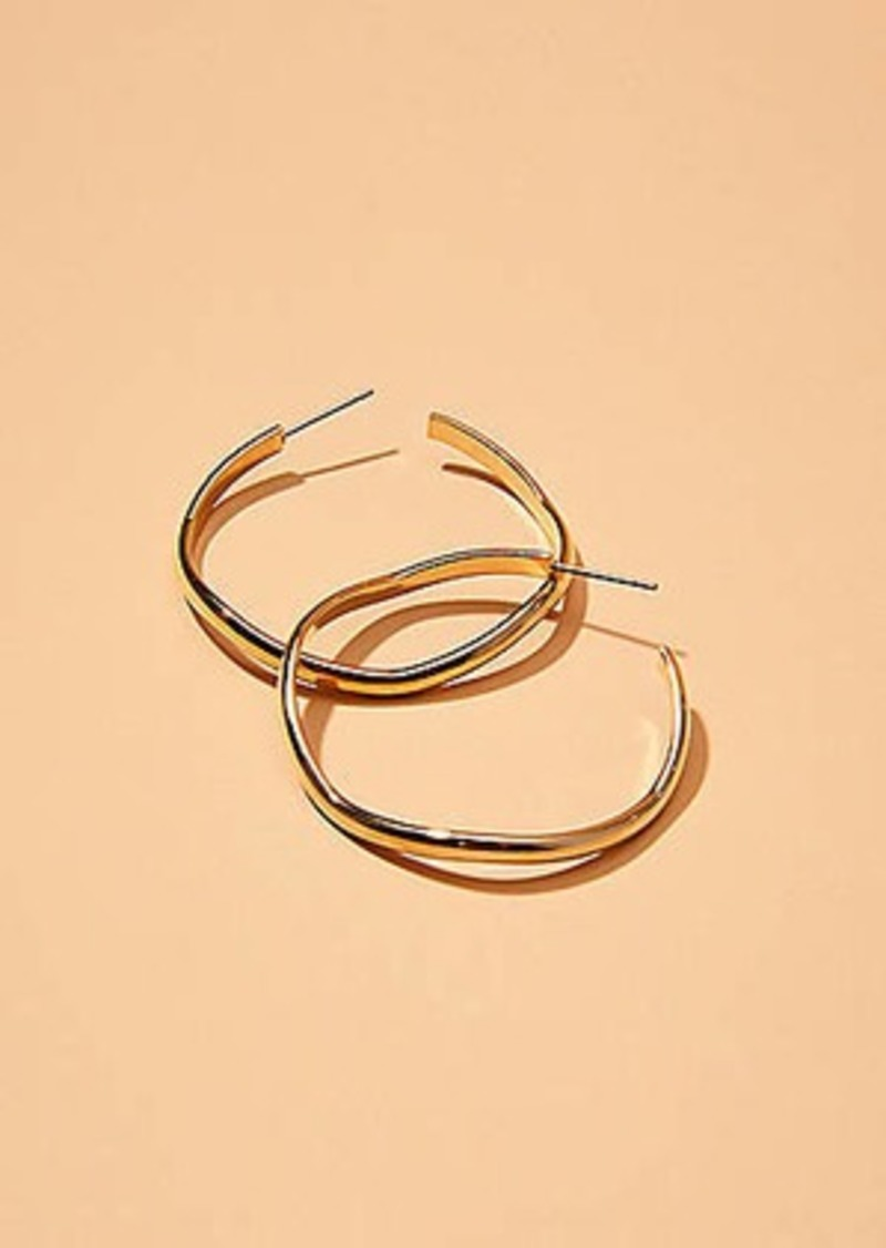 Lou & Grey Maslo Jewelry Wavy Hoop Earrings