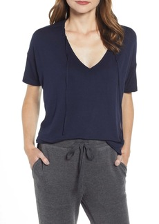 Lou & Grey Nash Tie Neck Shrunken Top