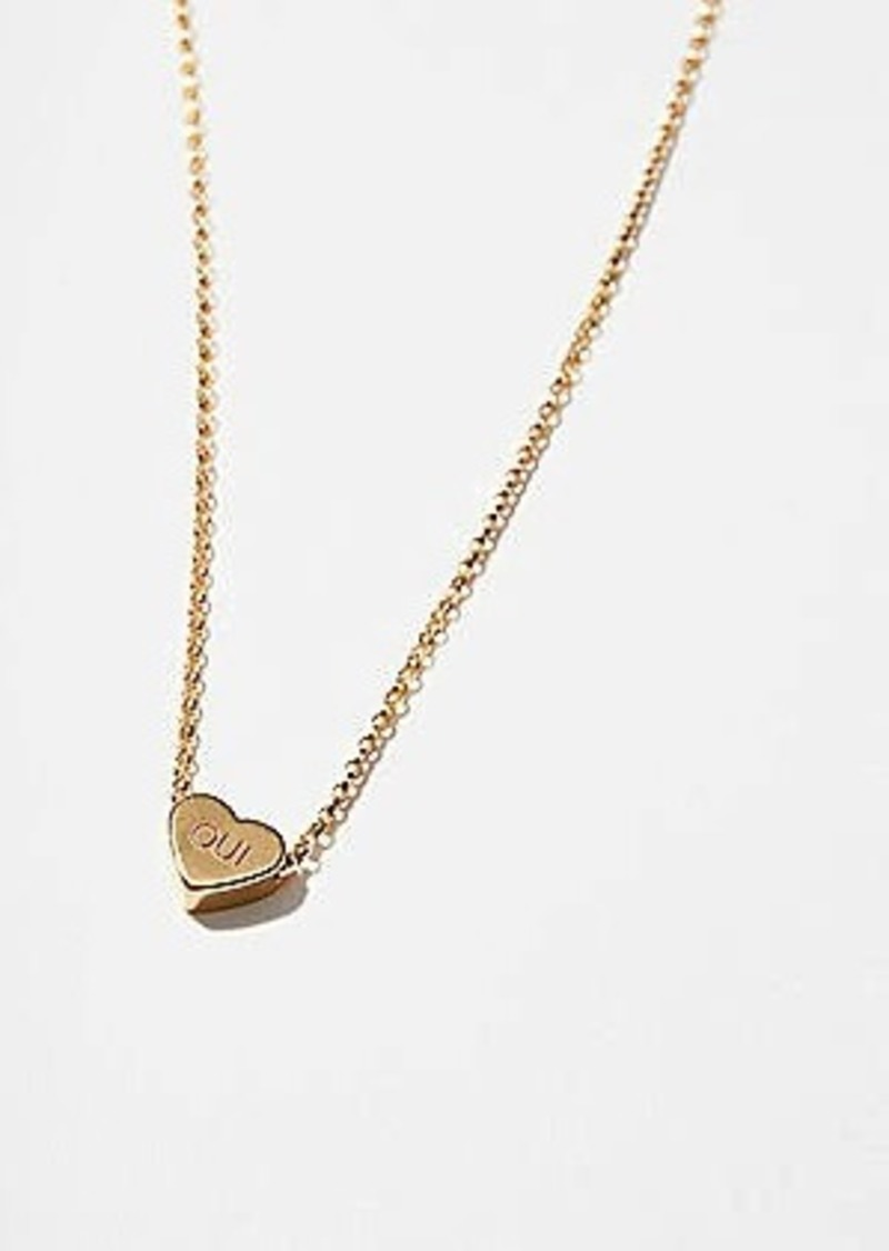 Lou & Grey One Six Five Oui Heart Necklace