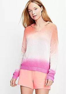 Petite Lou & Grey Dip Dye Hoodie Sweater