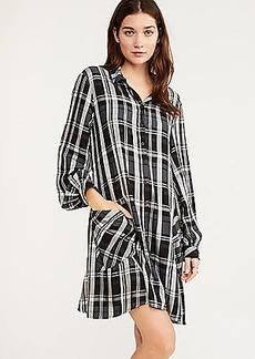Lou & Grey Plaid Cozy Pocket Shirtdress
