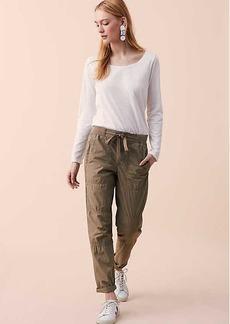 LOFT Lou & Grey Garment Dye Rib Waist Poplin Drawstring Pants