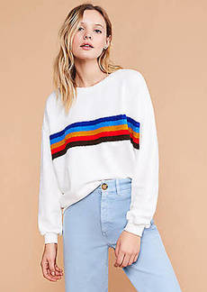 Lou & Grey Rainbow Stripe Terry Sweatshirt