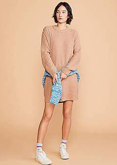 LOFT Lou & Grey Ribside Sweater Dress