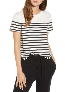Lou & Grey Selina Striped Softserve Slub Shirttail Tee