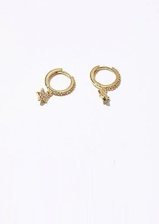 Lou & Grey Shashi Pave Star Huggie Earrings