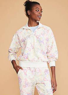 Lou & Grey Watercolor Floral Toasty Knit Jacket