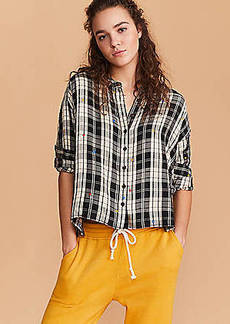 Lou & Grey Star Plaid Cozy Shirt