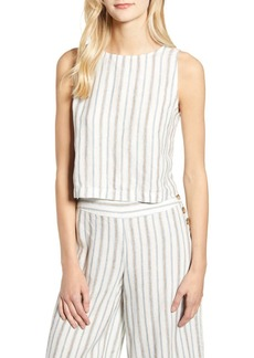 Lou & Grey Stripe Crop Linen Tank