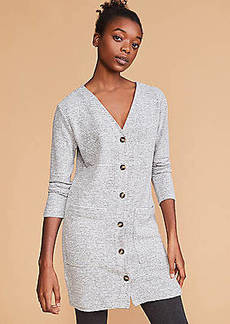 Lou & Grey Striped Brushmarl Cardigan Dress