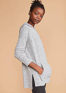 Lou & Grey Striped Brushmarl Hoodie Top