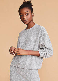 Lou & Grey Striped Brushmarl Sweatshirt