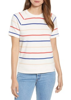 Lou & Grey Striped Fitted Sweatshirt Tee