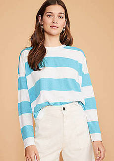 Lou & Grey Striped Softserve Slub Cropped Tee