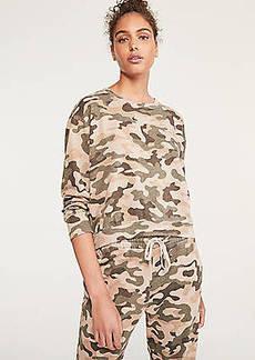 Lou & Grey Sundry Camo Crop Sweatshirt