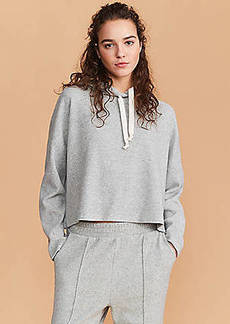 Lou & Grey Super Duper Plush Cropped Hoodie