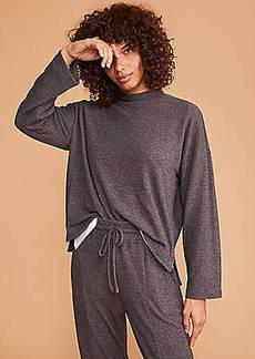 Lou & Grey Toasty Knit Mock Neck Top