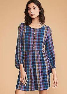 Lou & Grey Technicolor Plaid Dress