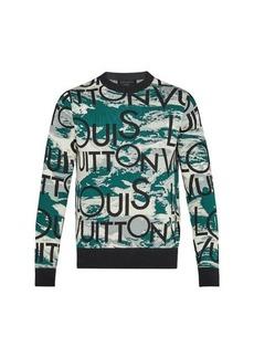 Louis Vuitton Allover Logo Jacquard Crew