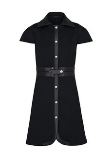 Louis Vuitton Dress With Leather Inserts