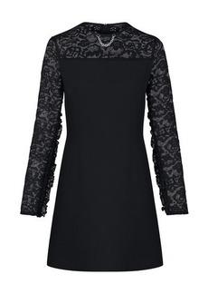 Louis Vuitton Monogram Lace Frill Sleeve Dress