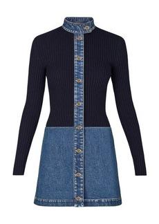 Louis Vuitton Stonewashed Denim Bi-Material Dress